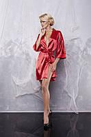 90 халат сатиновий DK XL, красный