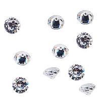 """Стразы Swarovski """" Алмазы"""", 10 шт NEW (круг диаметр 2,5)"""