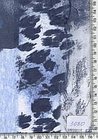 """Трикотаж (""""шкура"""" синие пятна) 3080"""