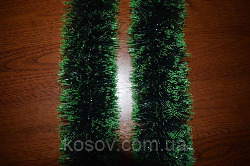 Мишура 10 см (зеленый под елку, норка, двойная набивка)