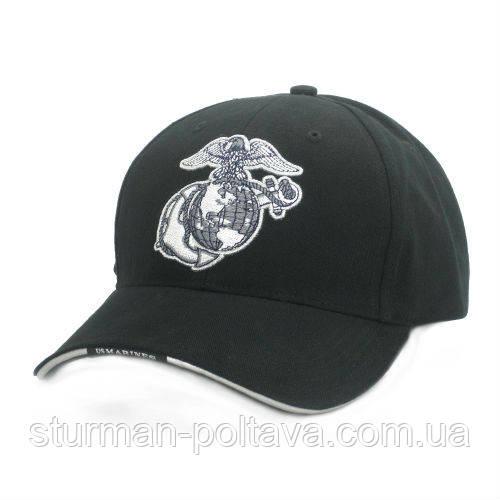 """Бейсболка Rotcho   морских сил  черная  """"GLOBE & ANCHOR"""" GLOBE & ANCHOR LOW PROFILE CAP"""