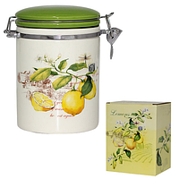 Ёмкость для сыпучих продуктов, 0,75л. 'Лимон'