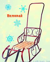 Зимние санки Смерека с ручкой- толкателем