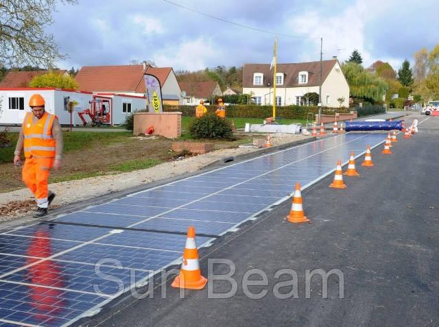 Французи пропонують використовувати на дорогах сонячні панелі замість асфальту