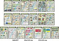 Комплект банерів для кабінету Захисту Вітчизни (2042502)