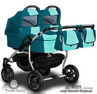 Универсальная коляска 2 в 1 Trans Baby Jumper Duo 87/99(мор.волна+бирюза)