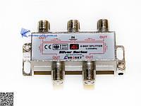 Делитель ТВ сигнала Split 4 way 5-2500МГц с проходом питания EUROSKY