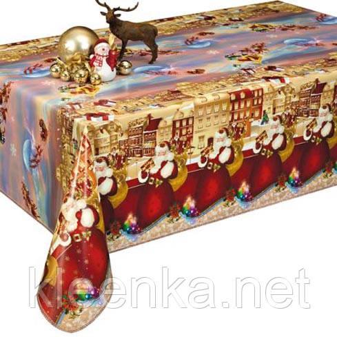 Скатерть клеёнка Новогоднее настроение, создайте атмосферу праздника в доме!, фото 1