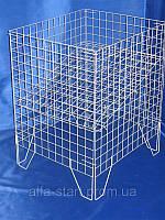 Металлический контейнер с регулируемым дном для торговли СЕРЫЙ