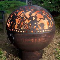Камин очаг-шар со съёмным верхом 900 мм