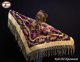 Украинский кремовый платок Королева, фото 3