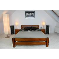 Двуспальная кровать «Милан» из натурального дерева