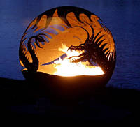 Камин очаг-шар Дракон 900 мм