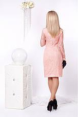 Гипюровое стильное и модное платье приталенного силуэта с воротничком, фото 3