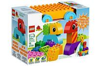 Конструктор LEGO серия DUPLO Веселая Каталка с кубиками 10554