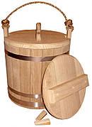 Ведро дубовое для солений, 15 литров