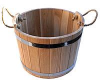 Шайка дубовая для бани и сауны 20 литров.