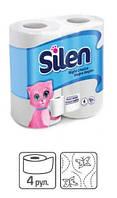 PRO service Silen туалетная бумага целлюлозная, 2 слоя, 20 м, 4 шт.