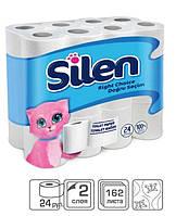 PRO service Silen туалетная бумага целлюлозная, 2 слоя, 20 м, 32 шт.