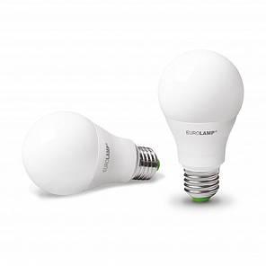 Промо-набір EUROLAMP LED Лампа A60 10W E27 3000K акція 1+1, фото 2