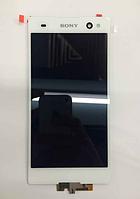 Оригинальный дисплей (модуль) + тачскрин (сенсор) для Sony Xperia C3 D2502 | D2533 | S55t | S55u (белый цвет)