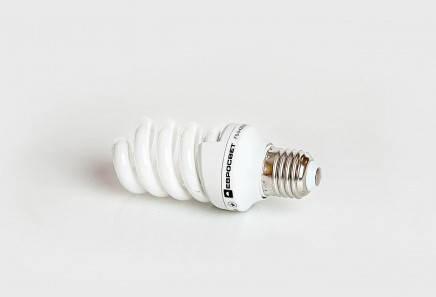 Люминесцентная бытовая лампа (КЛЛ) 13Вт 4200К  Е27