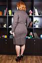 Платье вязанное  большого размера Нимфа Размеры 48- 62, фото 4