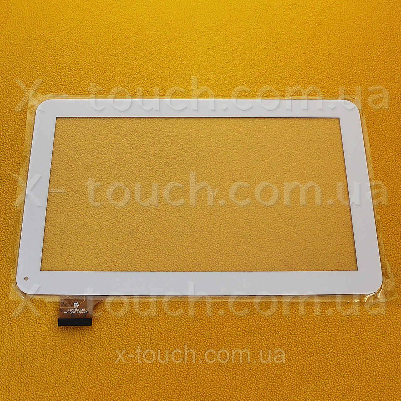 Тачскрин, сенсор  HK10DR2438-V01 белый для планшета