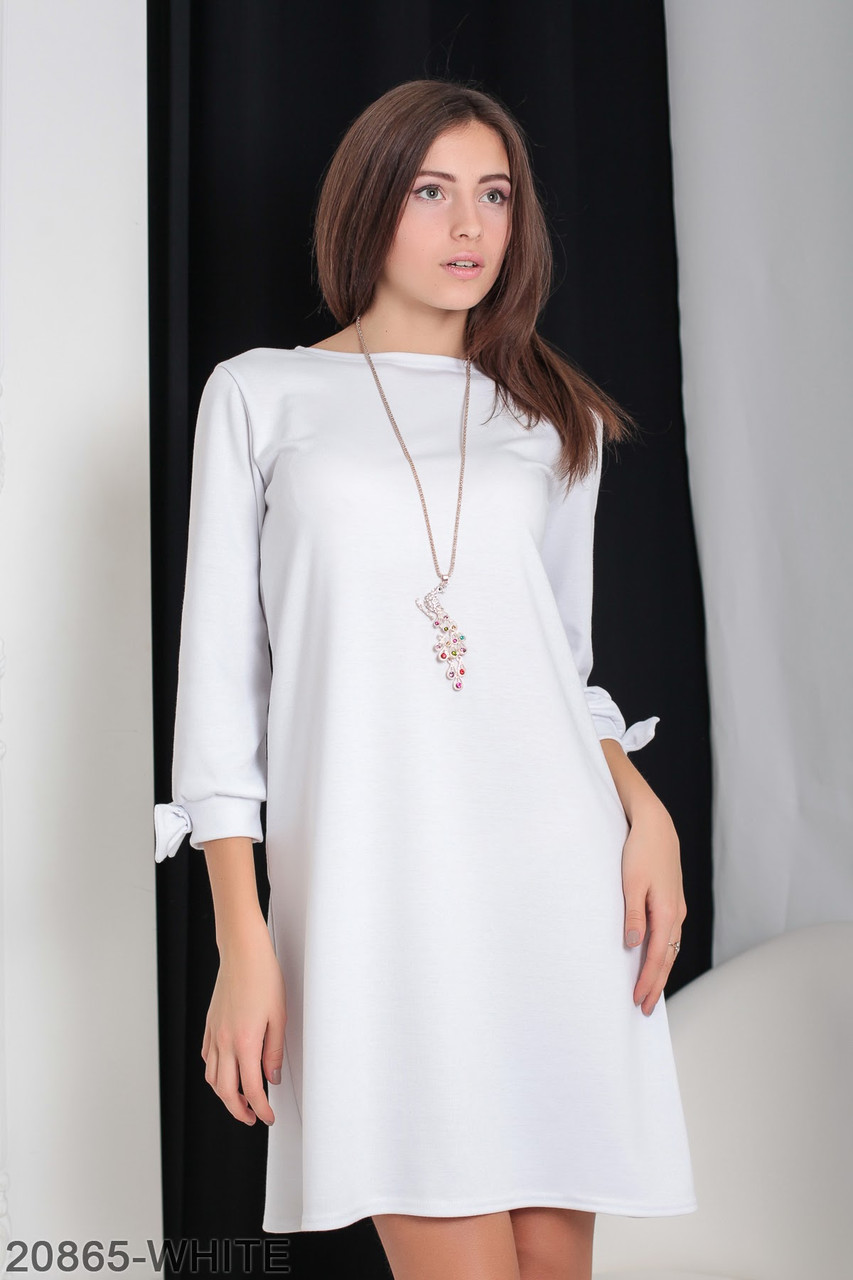 e5c116964c8073 (L / 48) Трикотажне біле плаття Emma Розпродаж, цена 474,60 грн., купить  Івано-Франківськ — Prom.ua (ID#753702553)