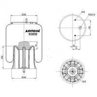 Пневморессора Airtech 32626KP