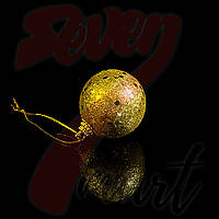Игрушки елочные шары золото Кружочки, 6 шт.