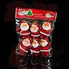 Игрушки елочные красные Дед мороз, маленькие, 6 шт. , фото 2