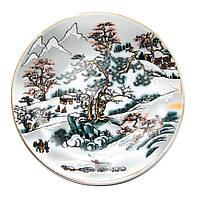 Тарелка настенная Зимний пейзаж (10 см)(4P97)