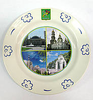 Тарелка Будянский фаянс (d-240 мм) Харьков (24 шт/ящ)