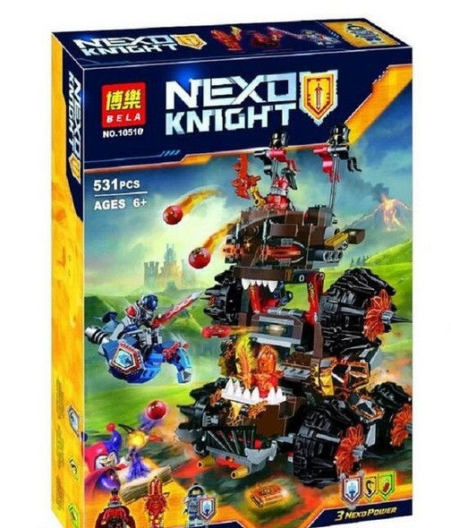 "Конструктор Nexo Knights Bela 10518 ""Осадная машина генерала Магмара"""