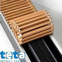 Решетка для конвекторов Теплобренд  750 мм, 170 мм, деревянная