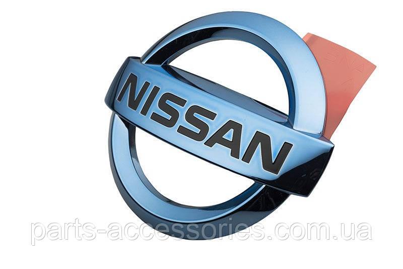 Nissan Leaf 2011-15 голубая эмблема значок на решетку радиатора Новый Оригинал