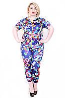 Женский костюм  171 пионы фиолет, фото 1