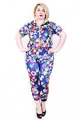 Женский костюм  171 пионы фиолет