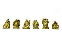 Хотеи (набор 6шт) каменная крошка желтые (h-3 см коробка 18х3,5х2 см)