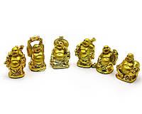 Хотеи каменная крошка золото (набор 6шт)(h-5см упаковка 25х7,5х3 см)