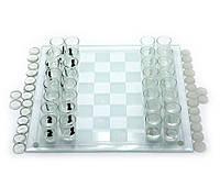 Шахматы - рюмки, шашки, карты- стекло