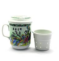 Чашка заварочная с ситом (230мл.) (SFC28) Гейши (h-11см., d-6.5см.)