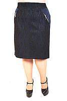 Юбка большого размера Прямая гипюр змейка (3 цвета), юбка для полных женщин, юбка батал, дропшиппинг  , фото 1