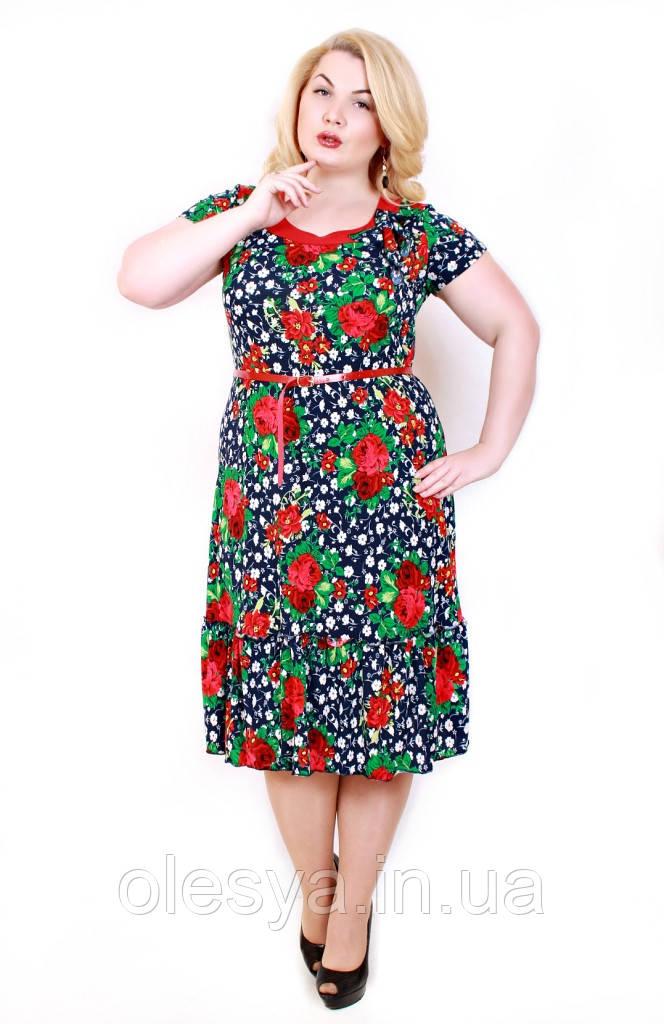 Платье Тюльпан мелкая роза