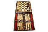 Шахматы, нарды бамбук,набор 2 в 1., фото 3