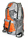 Рюкзак туристический серо оранжевый, фото 2