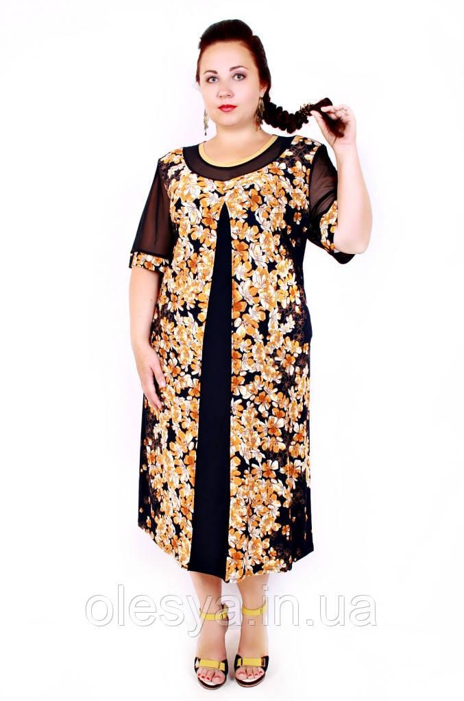 Платье большого размера Декоста (3 цвета)