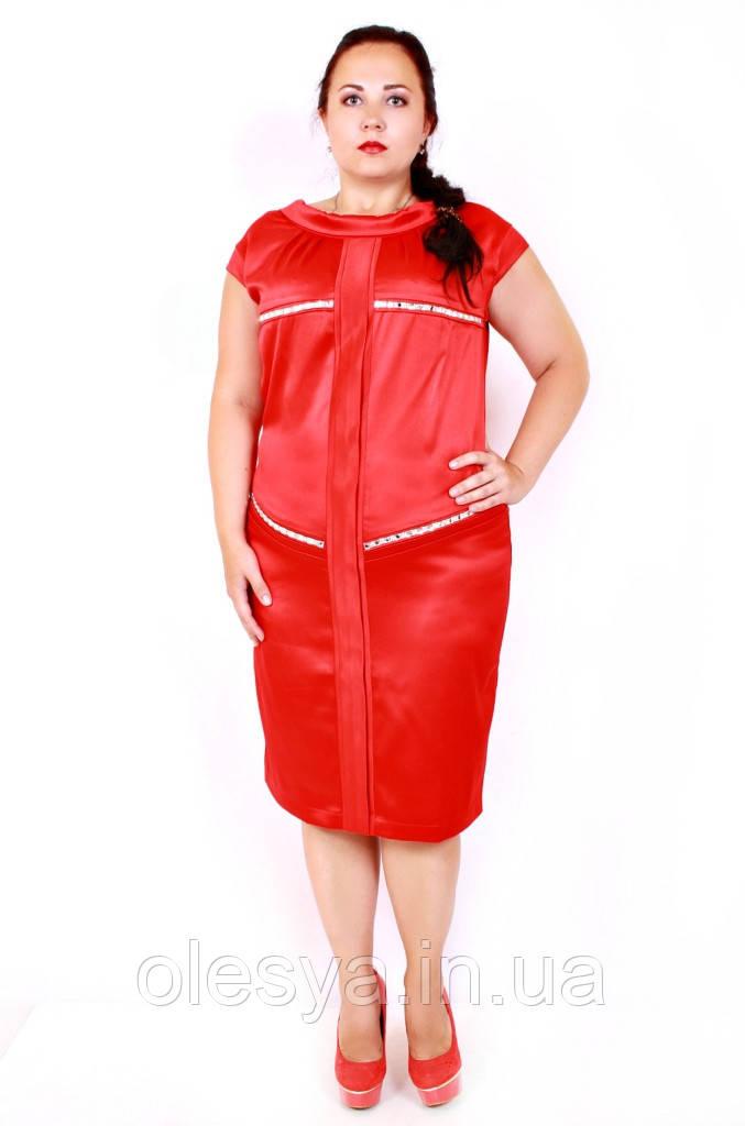 Платье большого размера маргарет однотон (2 цвета)