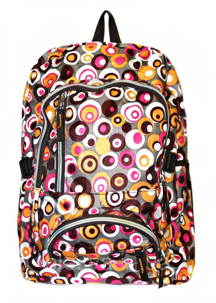 Рюкзак подростковый горох коричневый, рюкзак для школы, рюкзаки недорого